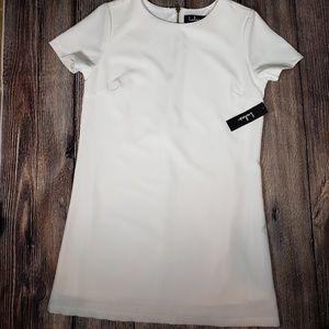 Lulus shift and shout white dress medium NWT